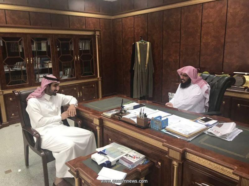 مدير عام هيئات القصيم يلتقي بمدير وكالة الانباء السعودية بالقصيم
