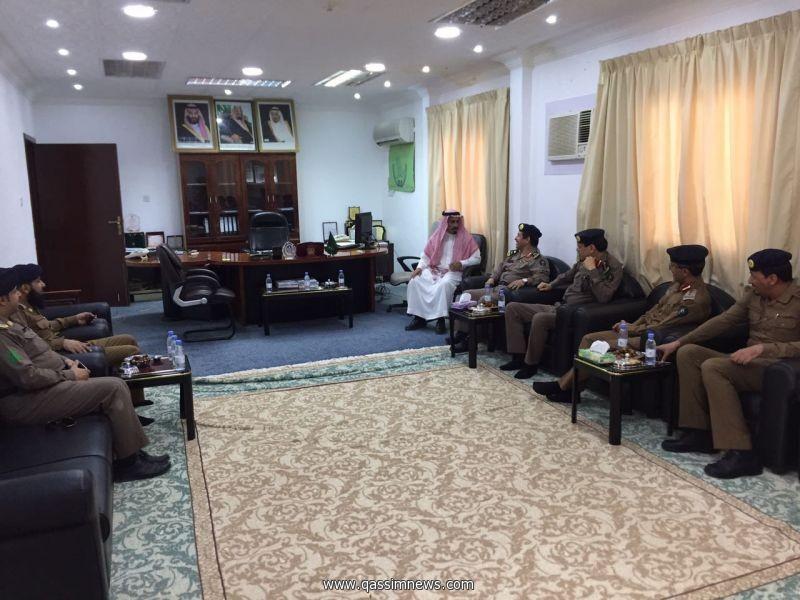 مدير مدني القصيم اللواءابراهيم المجماج يتفقد مركز النقرة الموسمي.