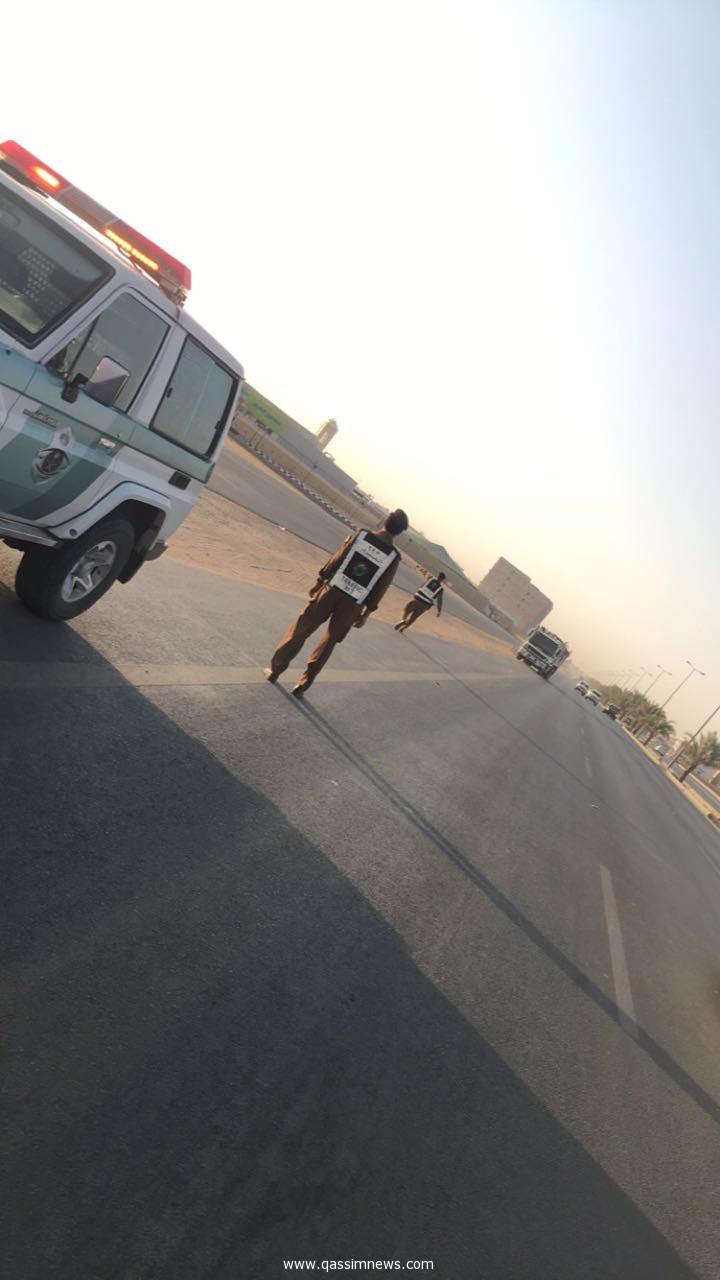 مرور القصيم يشدد المتابعة لمنع دخول الشاحنات لمدينه بريدة اوقات ذروة الحركة المرورية