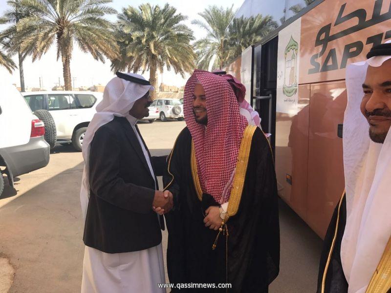 (( وكيل محافظة عيون الجواء يستقبل وفدًا من كبار مسؤولي الرئاسة العامة للبحوث العلمية والإفتاء