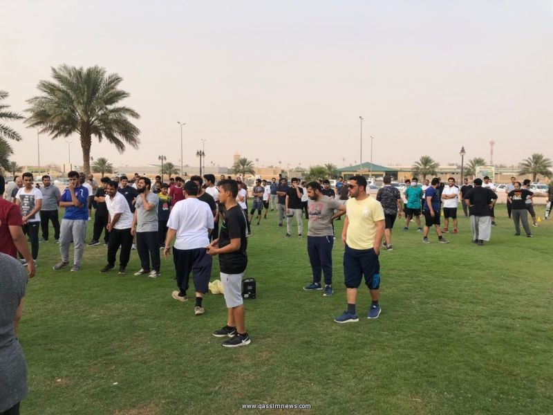 بريدة : مدرب متطوع يطلق مُبادرة تمارين رياضية رمضانية