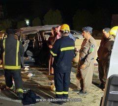 سبع فرق إسعافية من هيئة الهلال الأحمر بالقصيم تباشر حادث طريق النبقية بمدينة بريدة نتج عنه 10 إصابات
