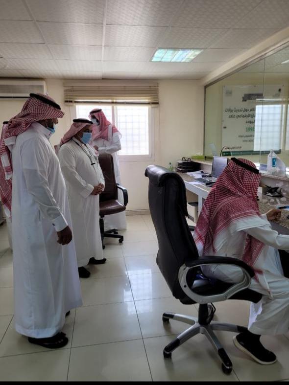 مدير عام فرع وزارة الموارد البشرية بالقصيم يتفقد عدد من الفروع بمحافظة الرس