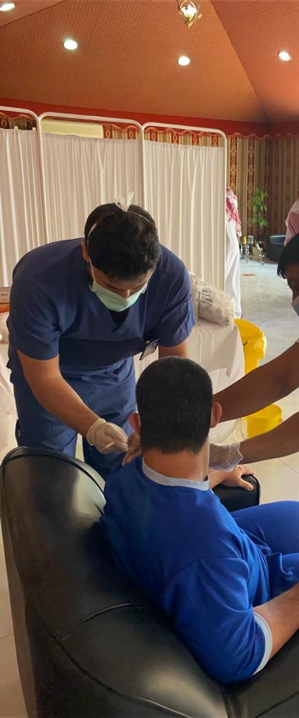 مركز التأهيل الشامل ببريده يقيم حملة التطعيم للجرعة الثانية لمستفيديه