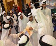 محمد بن زايد يزور الجناح السعودي بمعرض أبو ظبي للكتاب