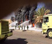 حريق بالسوق الدولي بتبوك
