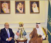 وزير الخارجية يستقبل مسؤولة ومسؤولاً أمريكيين