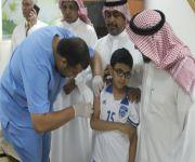 (( وكيل محافظ عيون الجواء يدشن حملة التطعيم ضد الحصبة في مدارس القطاع )