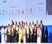 فيصل بن بندر وسلطان بن سلمان يسلمان جوائر التميز السياحي للفائزين