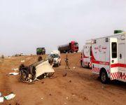 هلال القصيم نقل المصابين : وفاة واحدة و 6 إصابات بعد كبري النبهانية