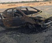 بريدة : الدفاع المدني يخمد حريق سيارة مسروقة