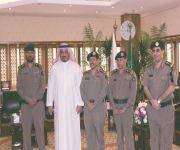 العميد المجماج مدير الدفاع المدني بالقصيم يزور معالي مدير الجامعة