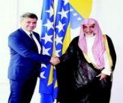 رئيس وزراء البوسنة والهرسك يستقبل وزير الشؤون الإسلامية