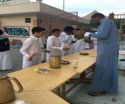 ثانوية الحكم بن هشام تستقبل طلابها ببرنامج غذائي صحي في أول أيام الاختبارات