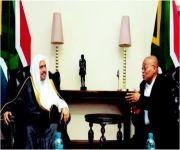 رئيس جنوب أفريقيا يستقبل الأمين العام لرابطة العالم الإسلامي