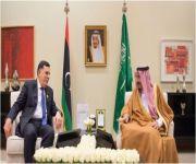 خادم الحرمين يلتقي رئيس المجلس الرئاسي لحكومة الوفاق الوطني الليبي
