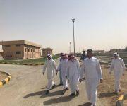 مدير عام خدمات المياه بالقصيم المهندس الرقيبة .. يقف ميدانياً على مشاريع الصرف الصحي ببريدة
