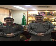 قائد القوة الخاصة لأمن الطرق بحائل يقلد العميد ال علي رتبته الجديدة