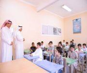 مدير تعليم البكيرية يقف على سير الدراسة في مدارس المحافظة