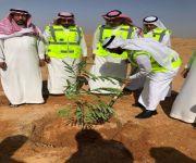 العساف يدشن المرحلة الأولى للمشاركة في حملة أرض القصيم خضراء