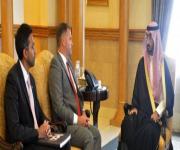 عبدالله بن بندر يبحث مع القنصل البريطاني الموضوعات المشتركة