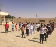 مدرسة ابتدائية قصر العبدالله تنفذ خطه اخلاء لحريق وهمي