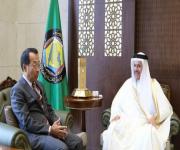 أمين مجلس التعاون يودع السفير الياباني لدى المملكة