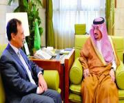 أمير الرياض يستقبل سفيري البرتغال وسيرلانكا