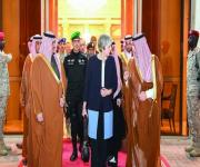 رئيسة وزراء بريطانيا تغادر الرياض