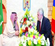 نائب أمير الرياض يحضر حفل سفارة رومانيا