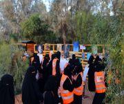 عنيزة : فتيات متطوِّعات يستثمرن منتزه عنيزة الوطني بيئةً لتدوير المخلفات