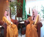 وزيـر الشؤون الإسلامية استقبل سمو الأمير بندر بن سلمان