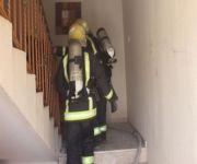 مدني عنيزة يباشر احتراق اثاث ومستلزمات منزلية بشقة