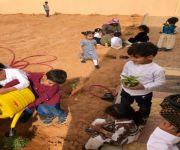 تفعيل أسبوع الشجرة في روضة فاطمة بنت الخطاب بمحافظة عيون الجواء