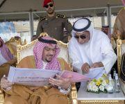 أمير القصيم يشهد ختام سباقات الفروسية بميدان الملك سعود