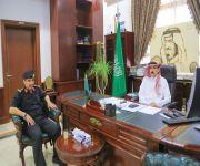 محافظ البكيرية يستقبل العقيد البدراني بمناسبة تكليفه مديراً للدوريات الأمنية