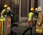 الدفاع المدني ينفذ فرضية حادث حريق في مستشفى منى الوادي استعدادا للحج