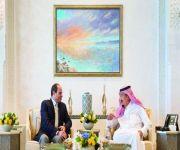 خادم الحرمين يستقبل الرئيس المصري