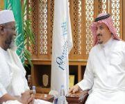 معالي مدير جامعة القصيم يستقبل سفير غانا لدى المملكة