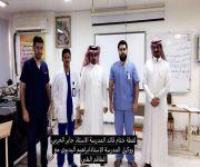 المديرية العامة للصحة تقيم  حملة الكشف الطبي على طلاب اول متوسط في مدرسة الامام محمدبن سعود المتوسطة ببريدة