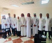 محافظ النبهانية يلتقي الأطباء المعينين حديثاً بمستشفى المحافظة