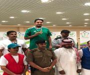 الرامي فايز احمد السلمي يحصل على المركز الأول والميدالية الذهبية برماية المسدس للدرجه الأولى في بطولة المملكة