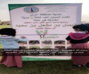 الابتدائية السادسة والعشرون بالرس بالتعاون مع البلدية تقوم بزراعة شتلات الزهور بأيدي طالباتها