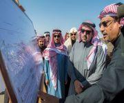 *  الأمير فيصل بن مشعل يتفقد الأعمال المنجزة لإستكمال تنفيذ مشروع طريق القصيم مكة المكرمة السريع