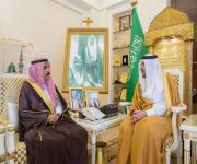 أمير القصيم يستقبل حسين العساف بمناسبة تعيينه محافظاً للرس