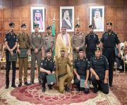 الأمير فيصل بن مشعل يكرم عدداً من منسوبي الأمن بمنطقة القصيم نظير جهودهم في مجال عملهم