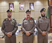 مدير شرطة القصيم يقلد عدداً من الضباط رتبهم الجديدة