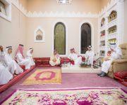 أمير القصيم يشارك أسرة السليم في عزاء*مساعد السليم رحمه الله