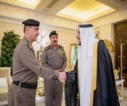 أمير القصيم يستقبل العميد الخليوي بمناسبة تعيينه مساعداً لمدير شرطة المنطقة