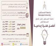 """جامعة المستقبل تُطلق مسابقة """"أفضل فكرة إبداعية"""
